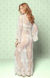 Mostrar detalhes para Robe renda floral Sereia longo