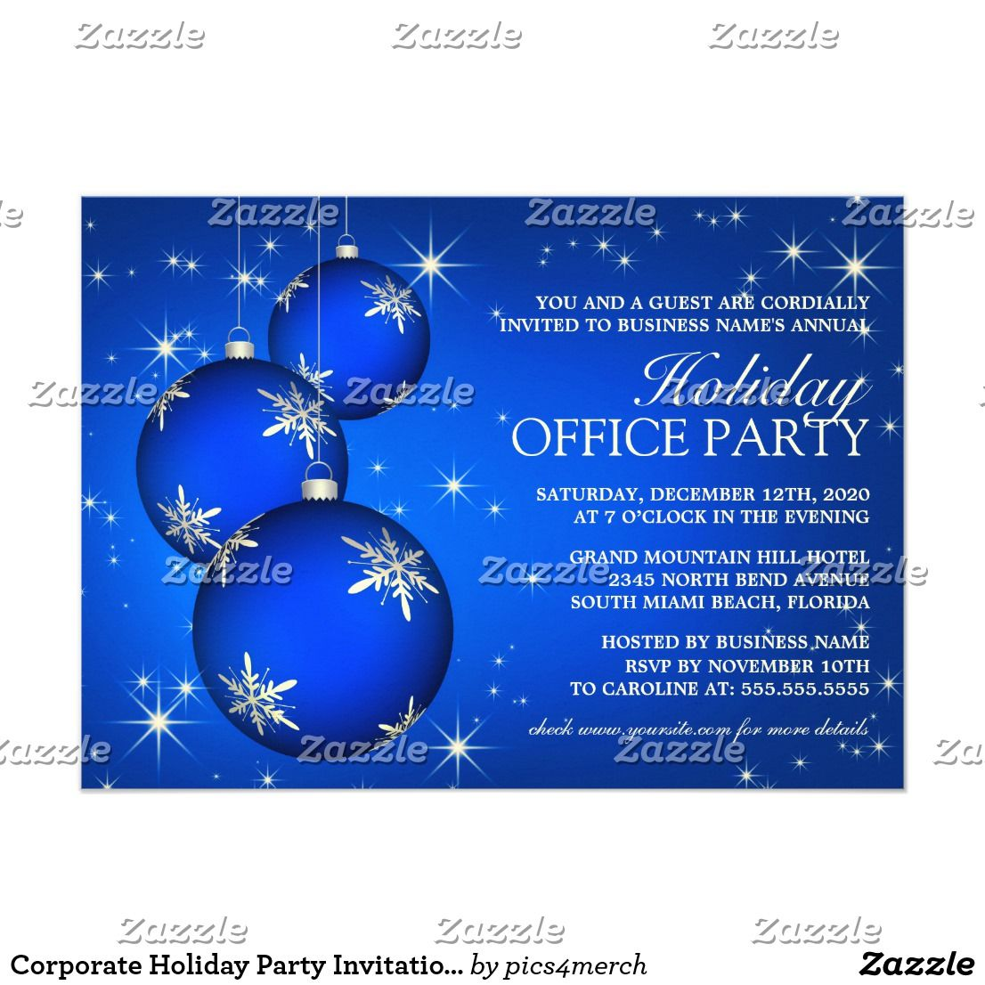 Corporate Holiday Party Invitation Template | Top pick New year\'s ...