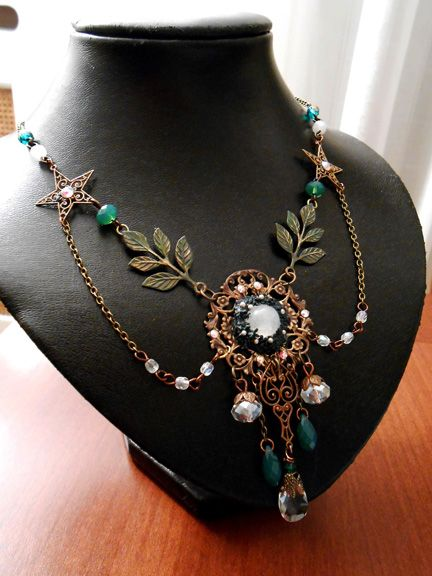 """""""ELVEN PARTY"""" Necklace by Marina Lombardi of Vintage Made For You"""