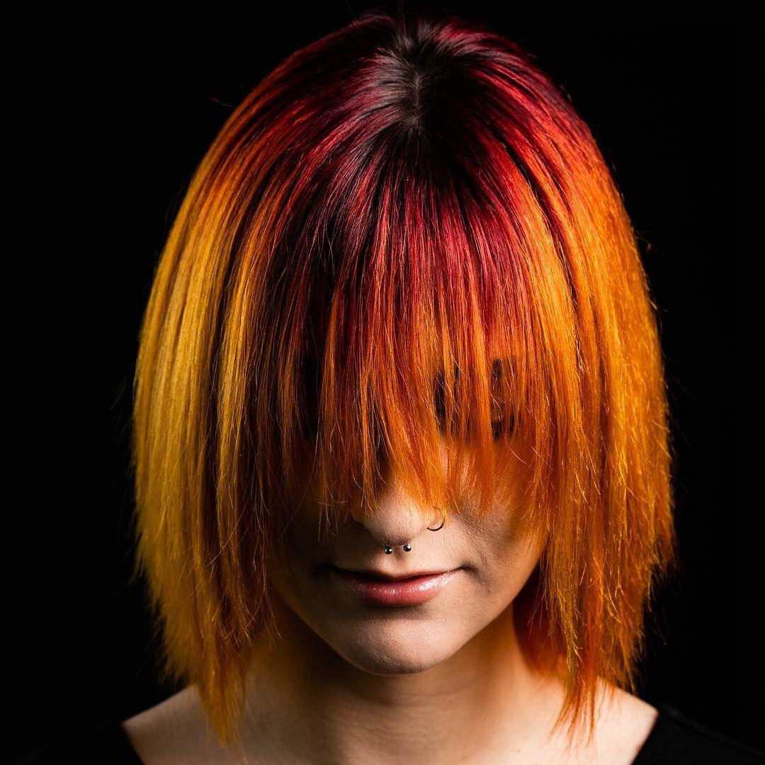haircolor bright funhair orange redhair redken