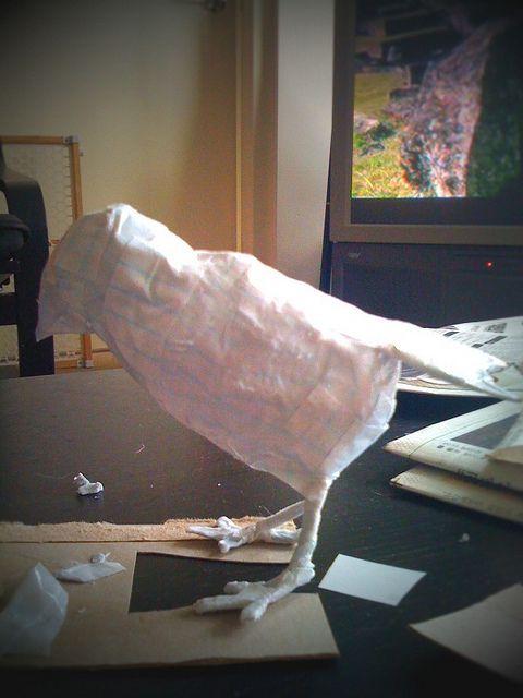 Paper Mache Bird in Progress   BIRDS CLAY & PAPER MACHE IDEAS