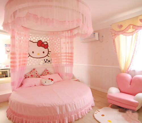 Letti Per Bambini Hello Kitty.Hello Kitty Bedroom Camerette Disegni Camera Da Letto Ragazza