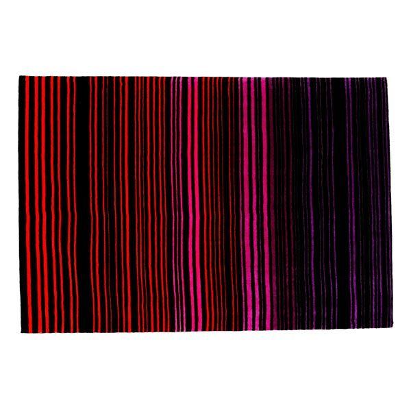 Tapis Design Lignes Verticales Rouge Violet Rose Sur Www Maison