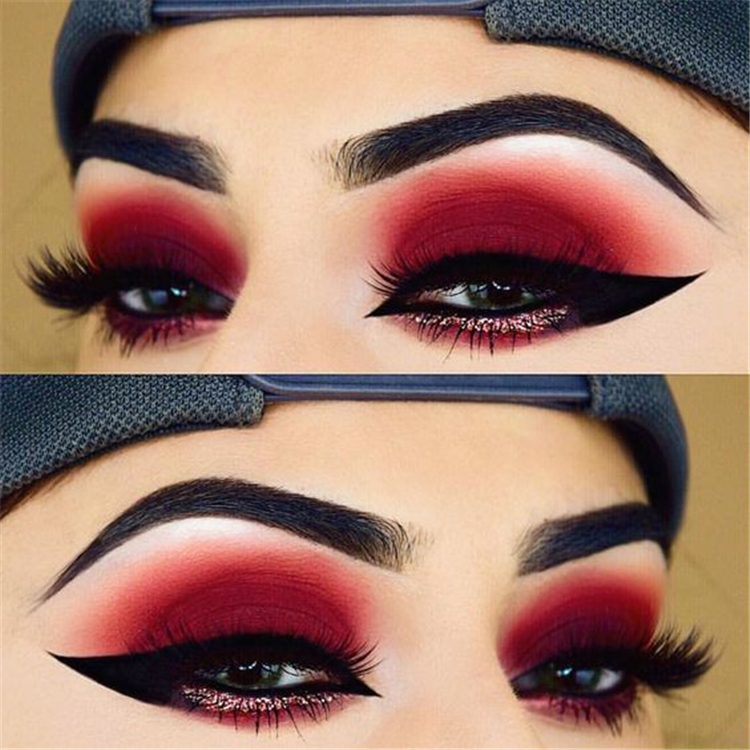 40 Amazing Red Eyeshadow Makeup Ideas For The Coming Valentine's Day – Page 39 of 40 – Cute Hostess For Modern Women