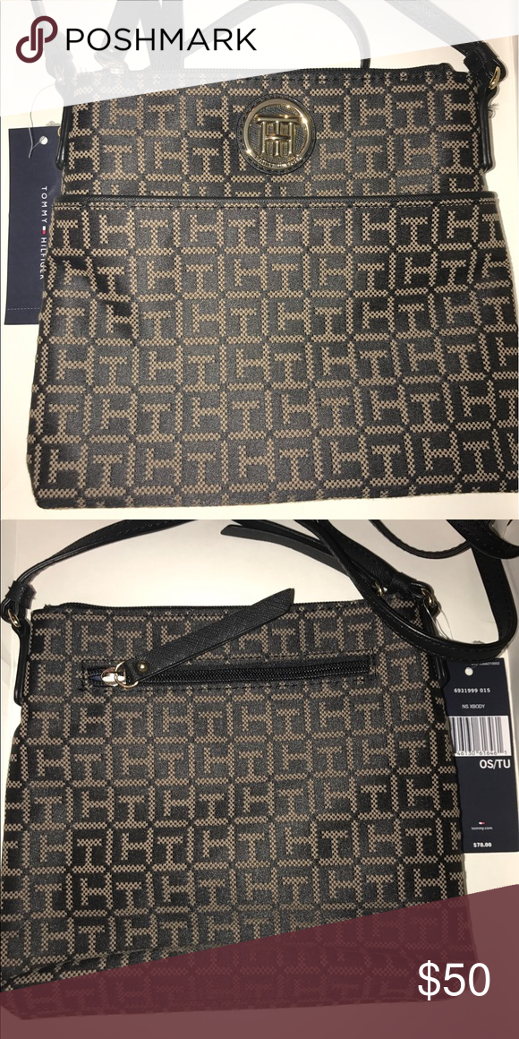 5de27ab2dd Black & Gold Tommy Hilfiger Cross-body Purse New & Never been used. Tags  still attached. Tommy Hilfiger Bags Crossbody Bags