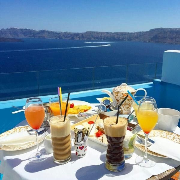Delicious Breakfast With A Beautiful View. Astarte Suites