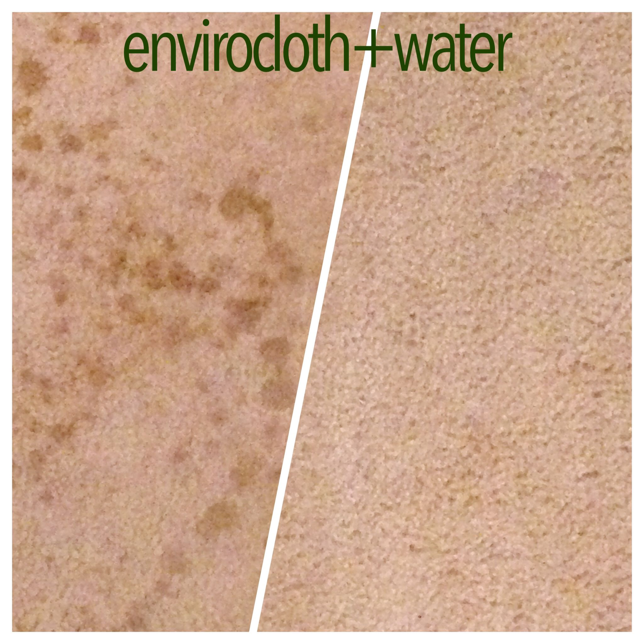 get tough stains out of carpet using your norwex enviro cloth and