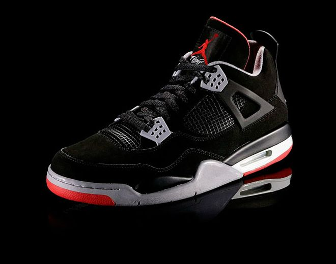 1a1460afd62 Air Jordan 4 - Black / Cement Grey / Fire Red | Kicks | Jordans, Air ...