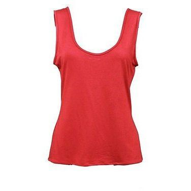 Bryan Emerson Scoop Neck Tank Womens Shirts Red Size 2