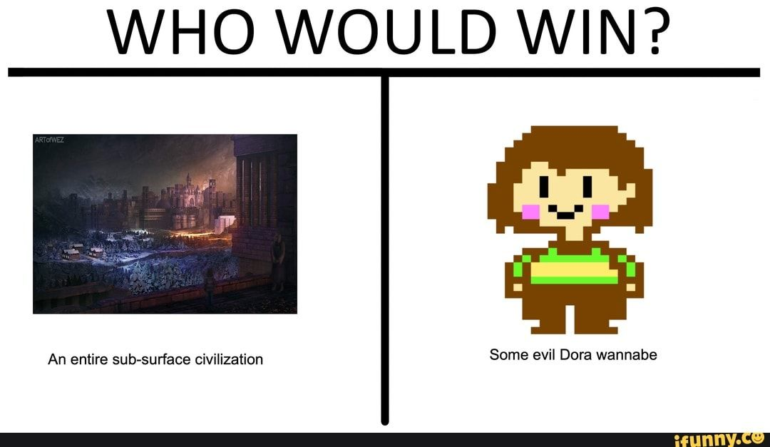 Who Would Win Ifunny Undertale Memes Undertale Undertale Puns