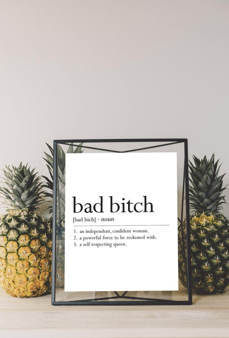 Bad Bitch Definition Digital Download - Bad Bitch Printable - Best Friend Gift - Gifts for Friends - Bad Bitch Digital Print