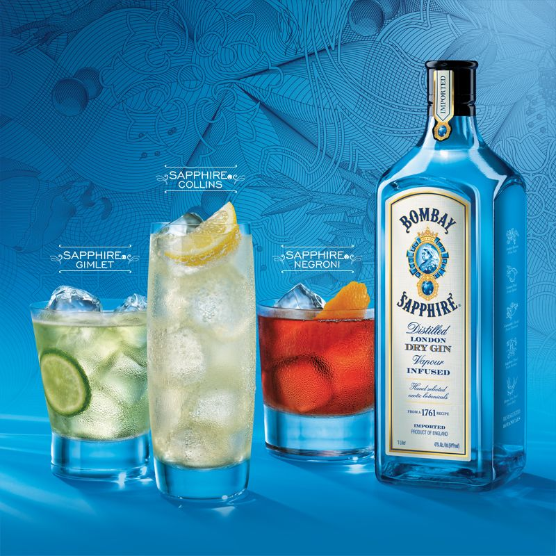 Bombay Sapphire Gin Drink Recipes by Bar None Drinks
