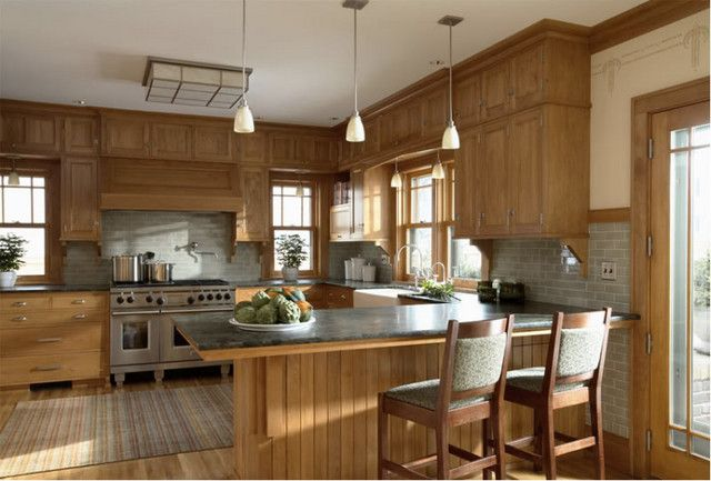 Ending Backsplash With Uneven Upper Lower Cabinets Contemporary