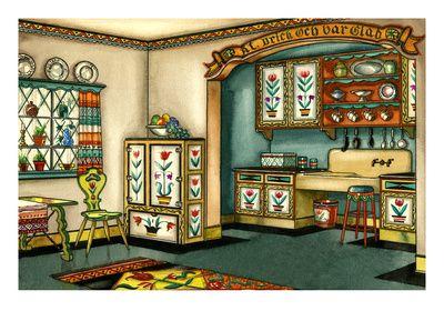 super cute kitchen print    House & Garden - August 1931 Giclee Print