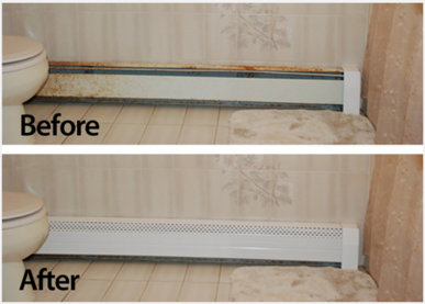 Transform Your Rusty Baseboards With Baseboard Covers From Neat Heat Http Unbouncepages Com Heater Cover Baseboard Heater Covers Baseboard Heater