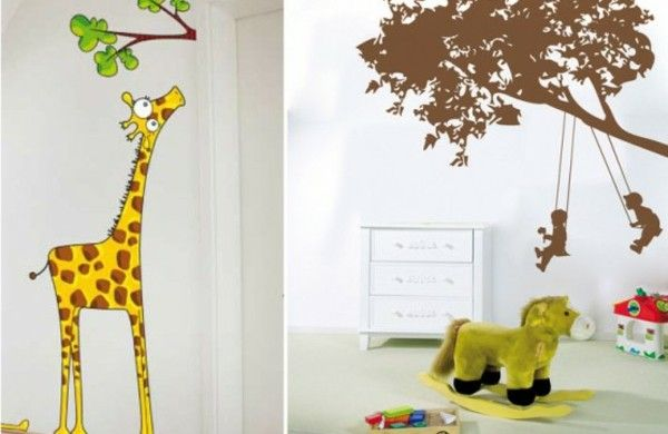 Kinderzimmer wandgestaltung giraffe  Lustige Wand Aufkleber für das Kinderzimmer von Acte Deco ...