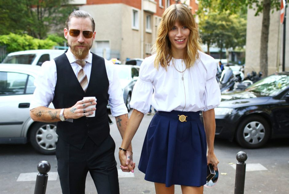 Street Style: Paris Fashion Week Spring 2015, Part 2 – Vogue Justin O'Shea and Veronika Heilbrunner Photographed by Phil Oh