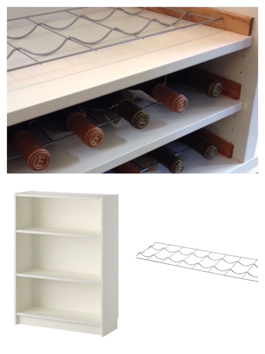 Turn A Small Bookcase Into A Wine Shelf Ikea Billy Bookcase  # Muebles Billy Ikea