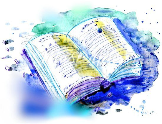 Book Cover Watercolor Brushes : An open book corner pinterest