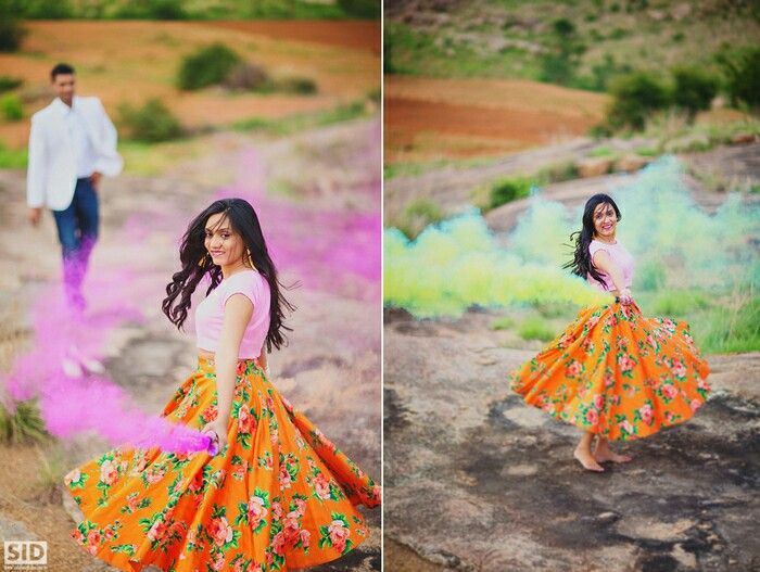 Couple Hoil Themed Prewedding Shoot | Prewedding Shoot + Holi = Unlimited Fun and Candid Moments! Function Mania | India prewedding shoot | Indian Couple Wedding Shoot |