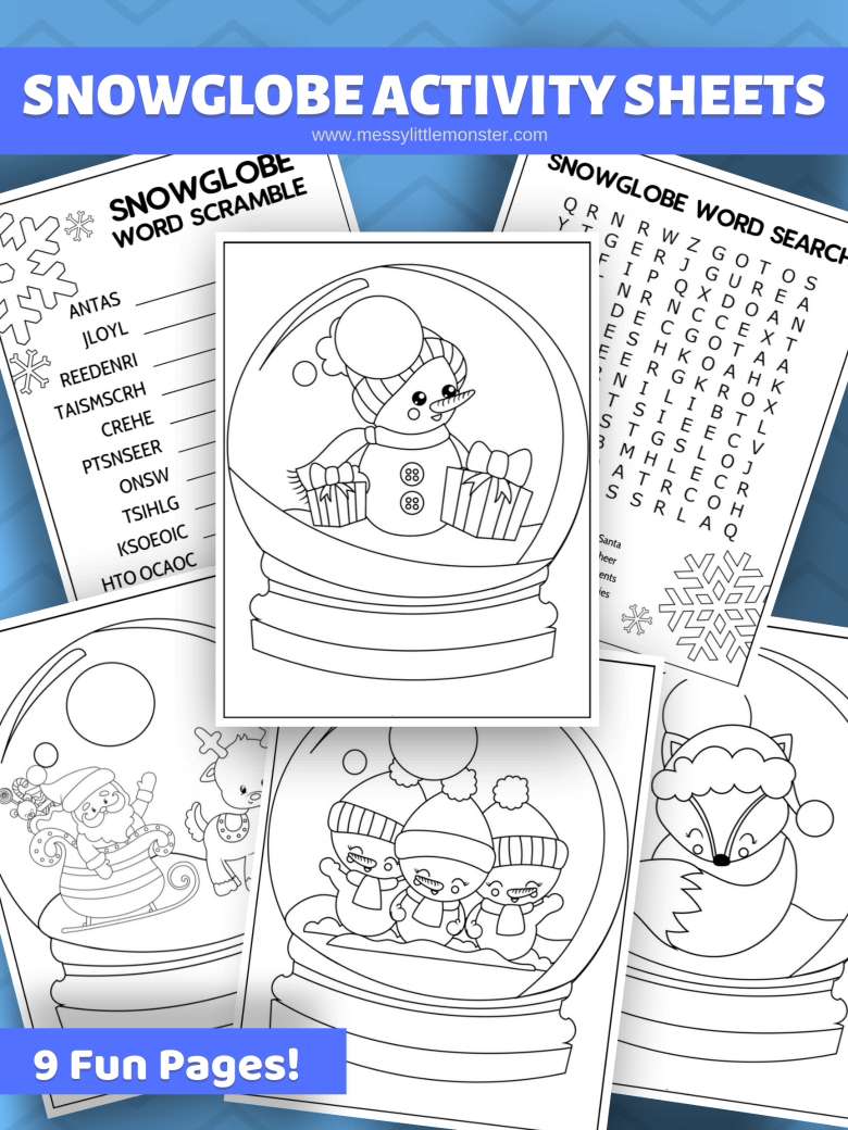 Snow Globe Colouring Pages Snow globe crafts, Coloring