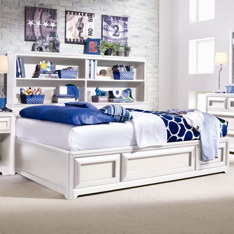 Elite   Reflections Full Bookcase Platform Bed With Underbed Storage By Lea  Industries | Wolf Furniture