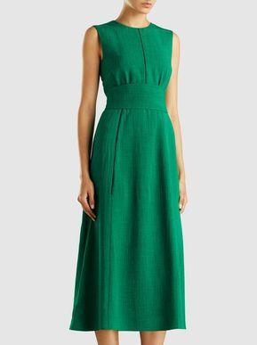 CEFINN - Sleeveless Midi Dress With Wide Belt Γυναικεία Μόδα 0b3cd644fae