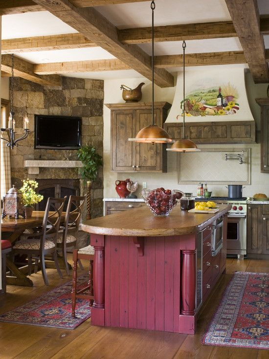 rustic french country kitchens.  Kitchens Rustic  French Country KitchenLOVE This With Fireplace In The Corner  And My Colors Sigh On Country Kitchens