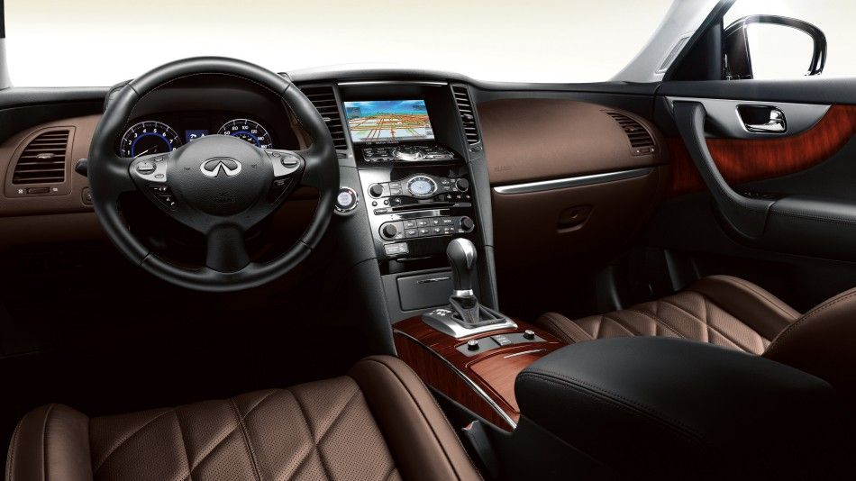 the luxurious java with quilted leather appointed seat trim inside the 2015 infiniti qx70. Black Bedroom Furniture Sets. Home Design Ideas