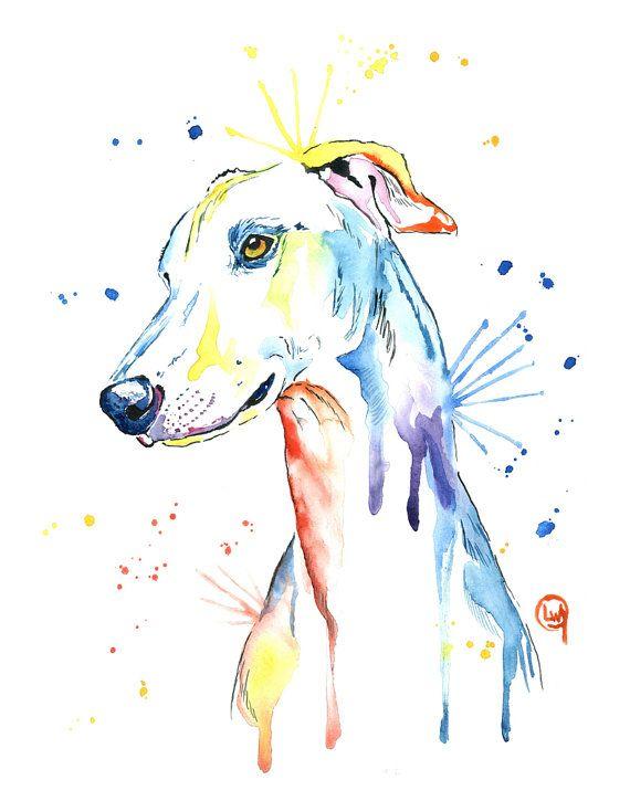 Greyhound//Whippet  DOG brand new metal glasses case great gift! Birthday Xmas