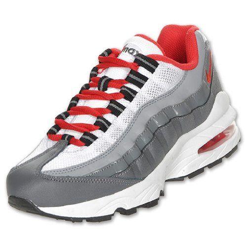 1300b4bf9f Nike Air Max 95 Big Kids Running Grey Red 307565-088 (GS) Nike. $97.99