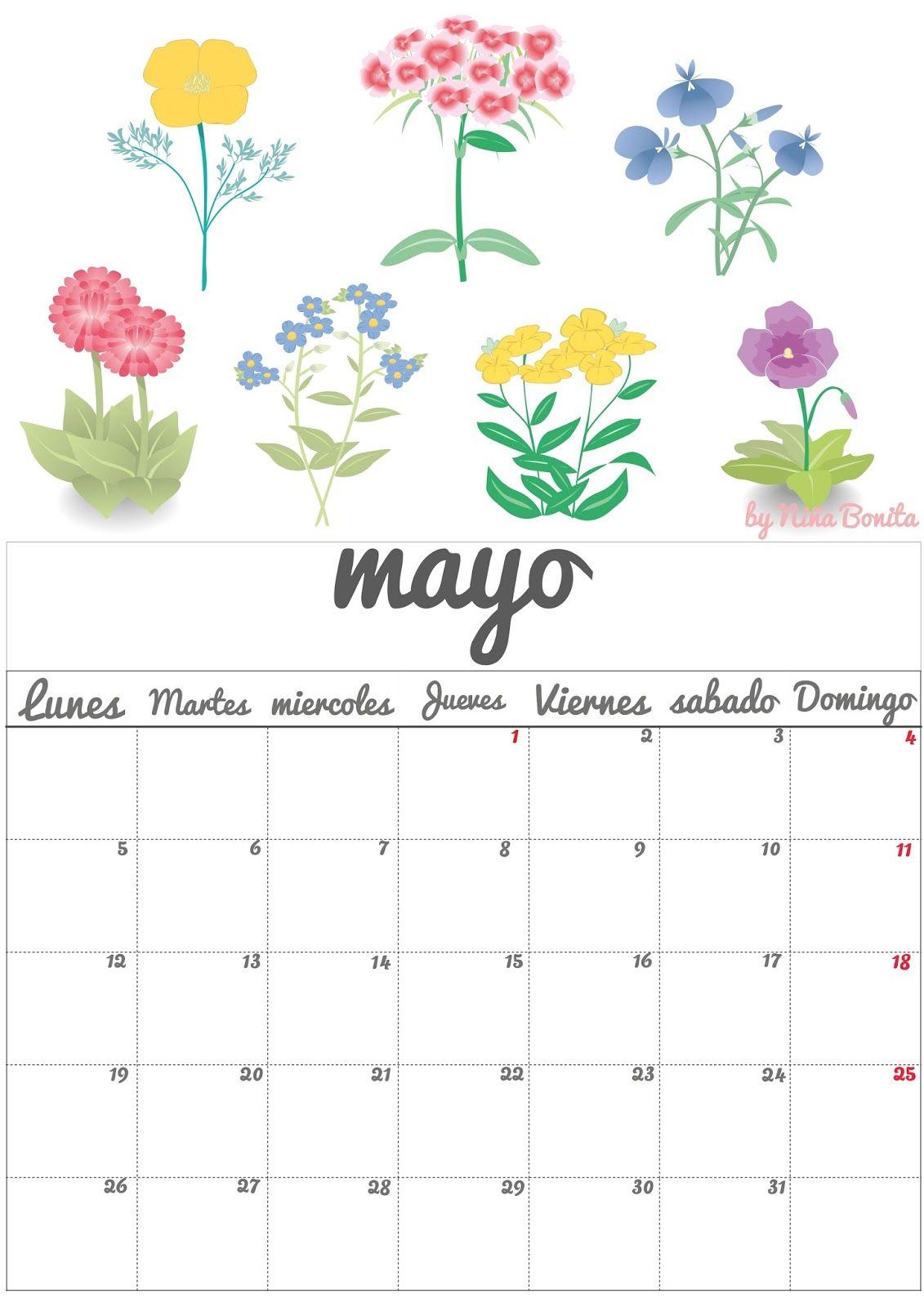 Imprimible: Calendario Mayo 2014