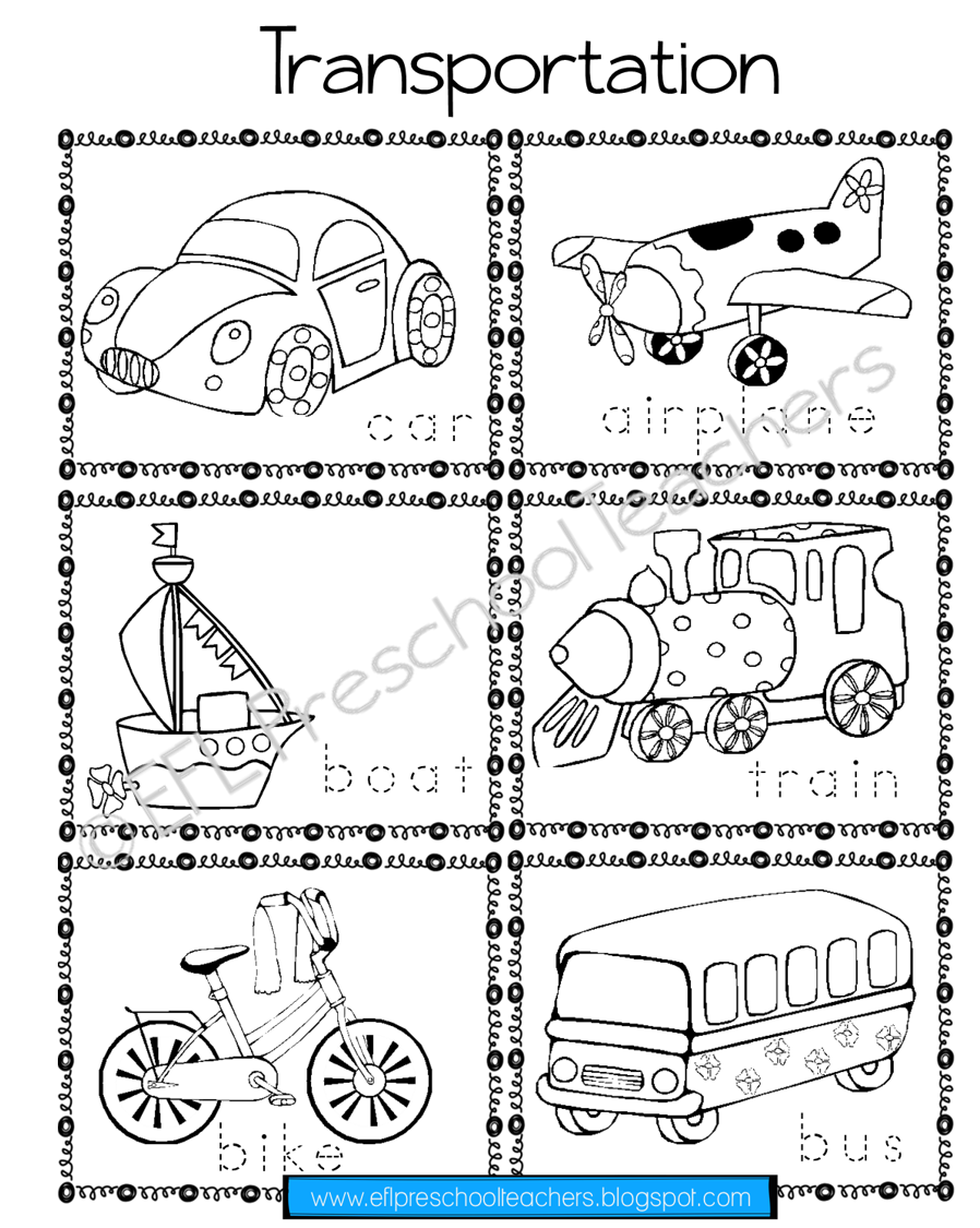 Esl Transportation Worksheet 1 Transportation Worksheet Teacher Favorite Things Esl Elementary [ 1125 x 898 Pixel ]