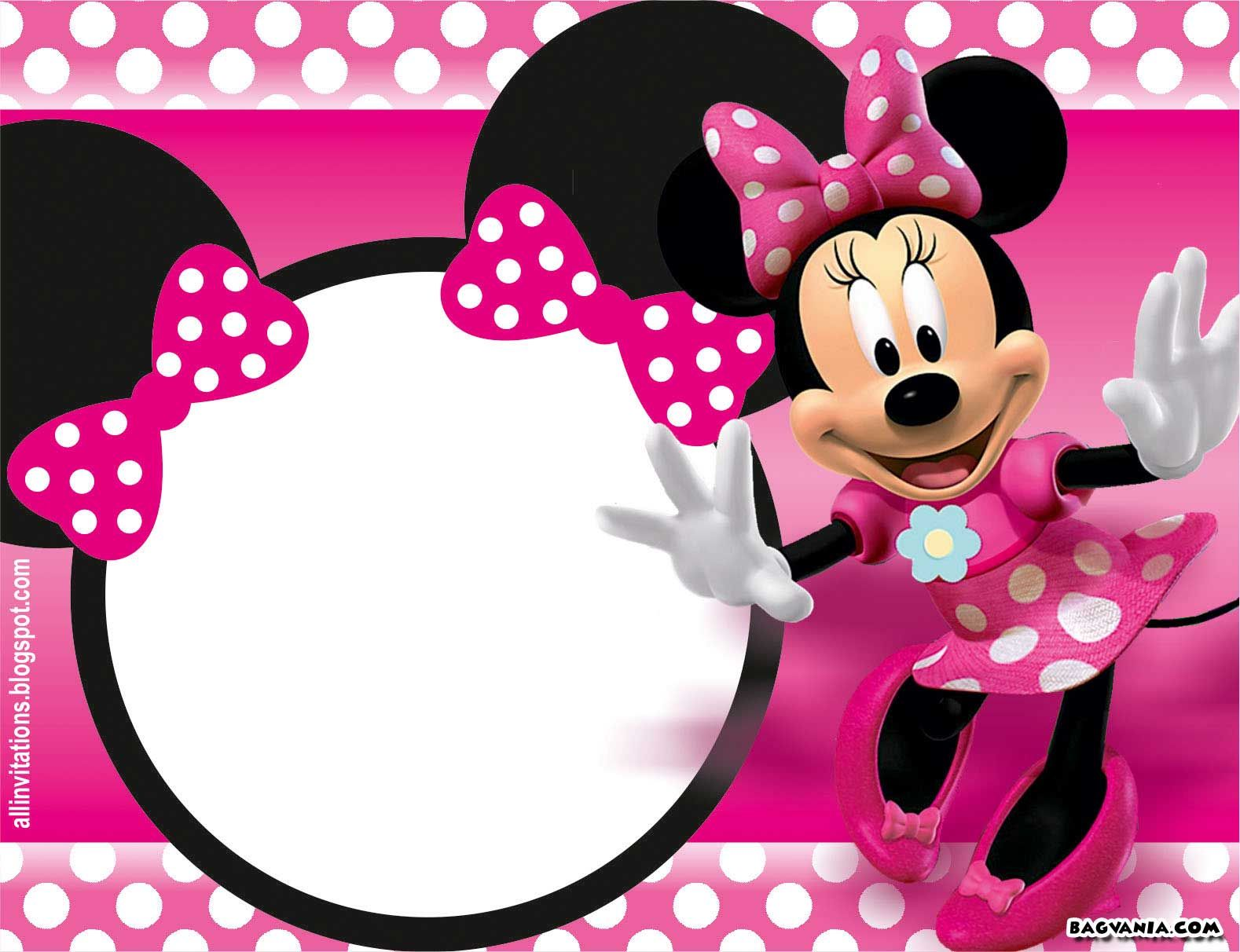 Free Printable Minnie Mouse Birthday Invitations