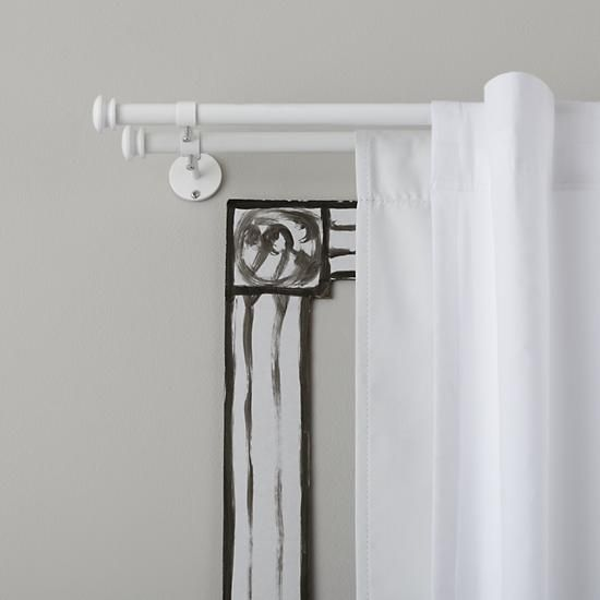 The Land Of Nod Curtain Accessories White Button Cap Double