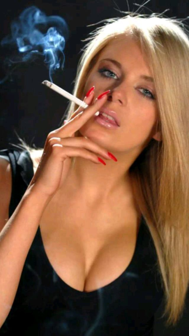 Sexy women smoking cigarettes