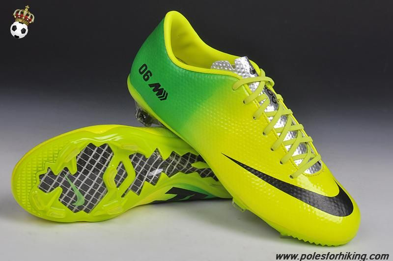 New Fg Boots 2014 World Cup Yellow Green Black 06 Nike Mercurial Veloce Adidas Futebol