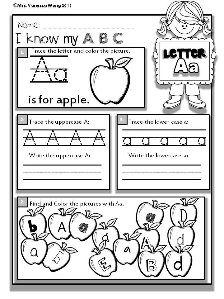 Back to School Math and Literacy No prep | KindergartenKlub.com ...