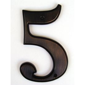 Shop Gatehouse 5 In Aged Bronze House Number 5 At Lowe S Bronze House House Numbers Bronze