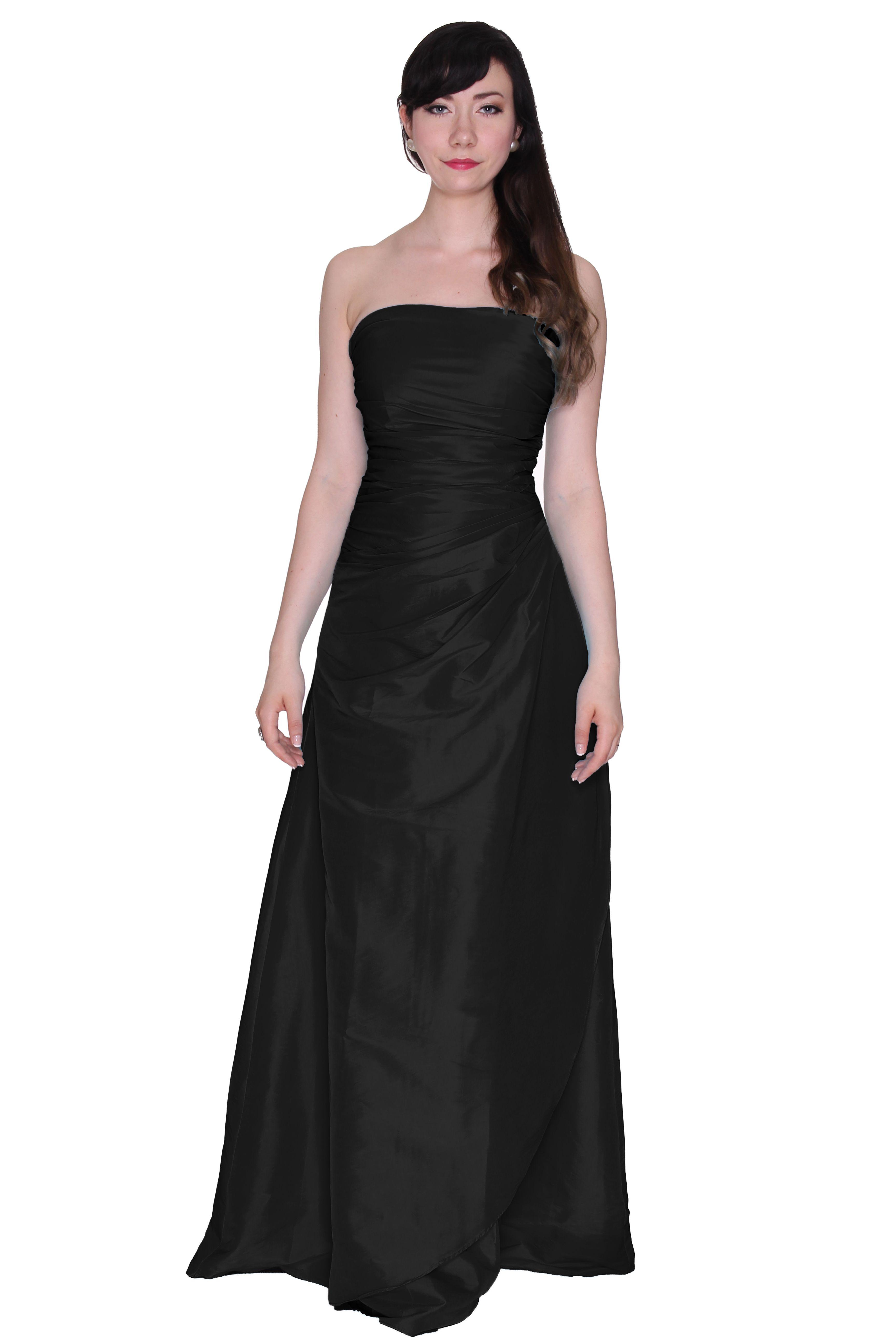 Beautifly womenus watercolored taffeta strapless long ball gown