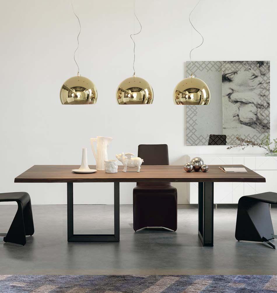 Cattelan italia pendelleuchte calimero goldfarben for Esstisch italienisches design