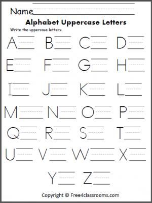 free alphabet uppercase letter practice handwriting alphabet writing practice writing. Black Bedroom Furniture Sets. Home Design Ideas