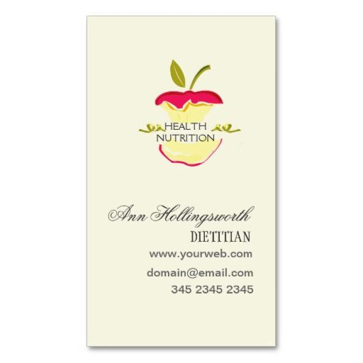 Health Nutrition Weight Loss Business Card Templates | Medical ...