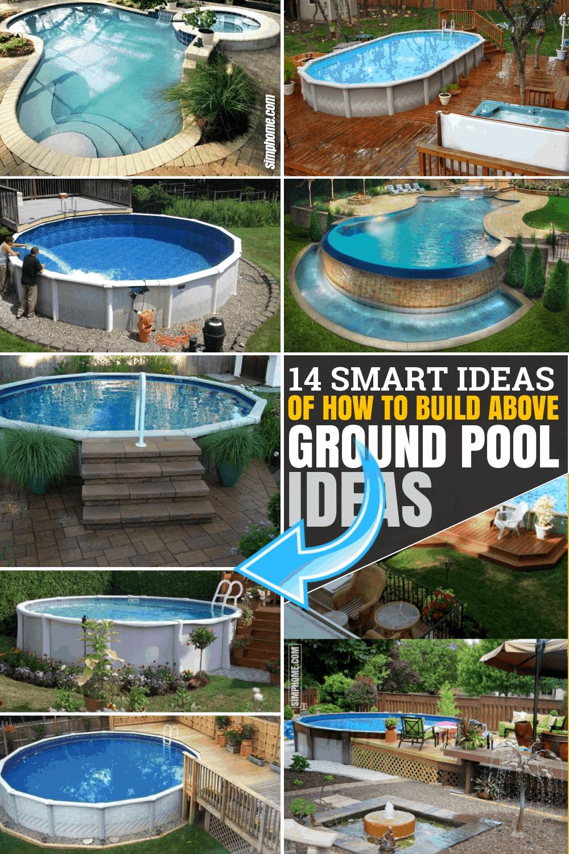 14 Ideas How to Build Above Ground Pool Backyard Ideas ...