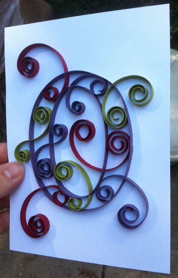 Custom Created Quilled Monogram 5x7 O by Allthingsmadebykelly, $12.00