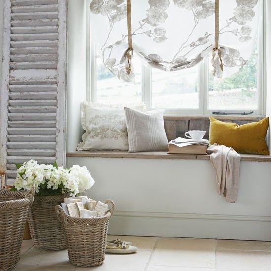A chez moi Dream home Pinterest Bancs, Campagne chic et - Idee Deco Maison De Campagne
