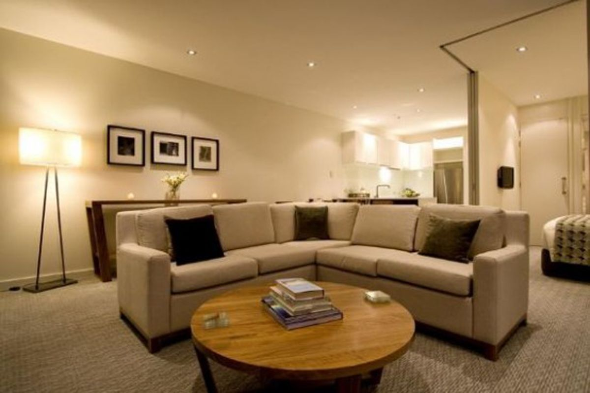 Beauty And Elegant Apartment Interior Lighting Furniture