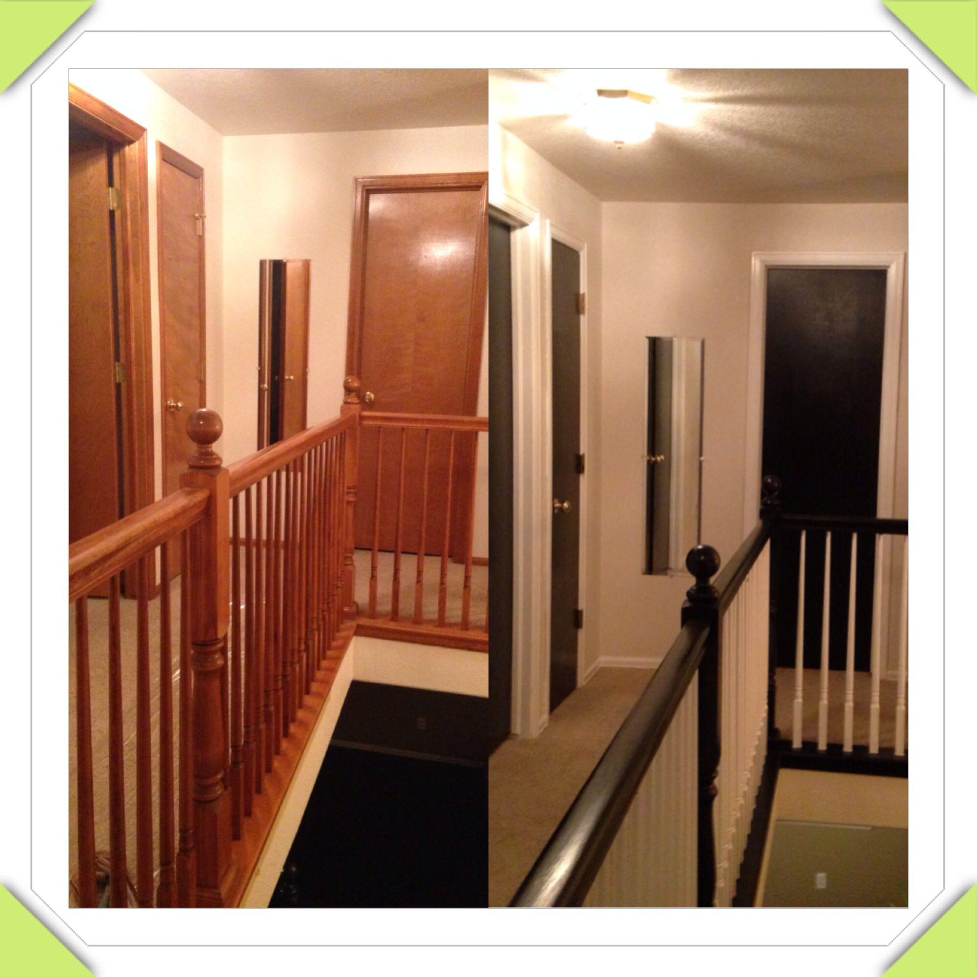 Wood Doors To Black Door With White Trim Transform Your Old Wood Doors Just The Cost Wood Doors White Trim Black Interior Doors Painting Interior Doors Black