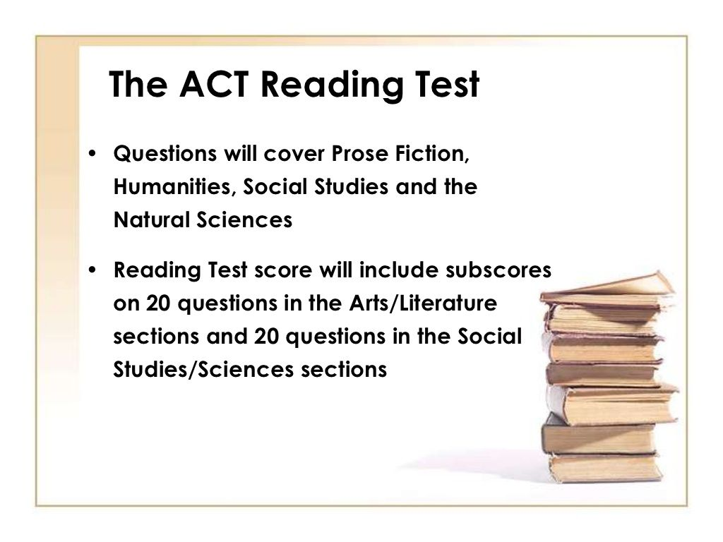 ACT Test Taking Strategies For The ACT Reading Test