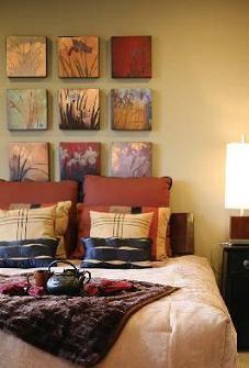 Warme kleuren maken je slaapkamer lekker knus   opslag foto\'s ...